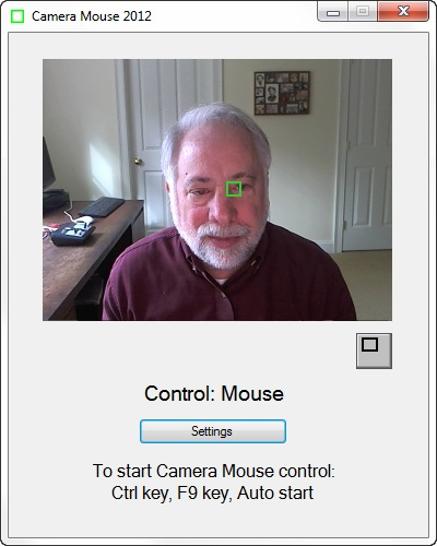 ������ CameraMouse2012 ���� ������ ������ �� mouse �� ���� ����� �����